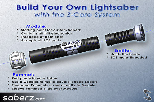 saberz com build your own lightsaber